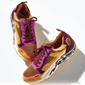 Sandro Flame Moutarde Yellow Luxury Sneakers 7.5